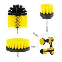 1/3/4/12Pcs Nylon Power Drill Scrubber Round Head Brush Cleaning Scrub Brush Kit