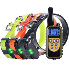 2019 New Version 800m Remote Dog Training Collar Rechargeable Waterproof Dog Shock Vibration Training 3 Dogs Anti-bark Device