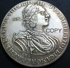 wholesale 1724 russia 1 Rouble coins copy 100% coper manufacturing silver-plated