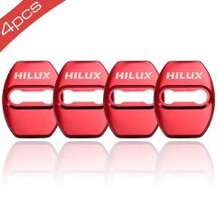 4pcs Car Styling Car Door Lock Covers stikcer Case for Toyota hilux auto accessories
