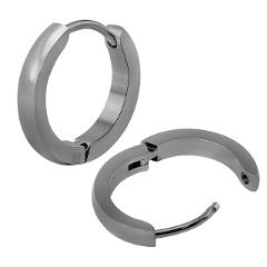 AOEDEJ Small Hoop Earrings Gold Color Stainless Steel Hoop Earrings For Women Men Round Earrings Creole Argollas Pendientes