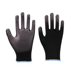 Working Safety Gloves GMG Grey Polyester Shell Grey PU Coating Work Safety Gloves Hand Gloves Mechanic