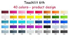 Touchliit Six Generation Alcohol Permanent Markers 30/40/60/80 Pro Graffiti Marker For Anime/Building/Clothes/Landscape
