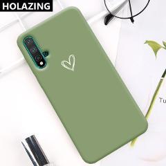 Candy Color Soft TPU Gel Sweet Heart Couples Case for Huawei Nova 5 5T 5i Pro 4 4E 3E 3i 3 Anti-Scratch Cover