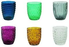 Villa d 'Este Home Tivoli Geometrie Set 6Gläser Wasser, Mehrfarbig, 6Einheiten